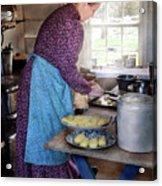 Baker - Preparing Dinner Acrylic Print