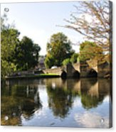 Bakewell Bridge And The River Wye Acrylic Print