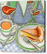 Bakewell Pudding And Cup Of Tea At Eroica Britannia  Acrylic Print