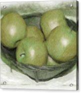 Baking Apples Acrylic Print