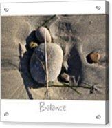 Balance Acrylic Print by Peter Tellone