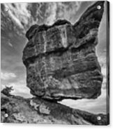 Balanced Rock Monochrome Acrylic Print