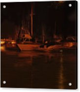 Balboa Island Newport Bay Night Acrylic Print
