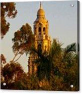 Balboa Park Bell Tower Orig. Acrylic Print