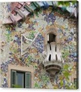 Balcionies Of Casa Batllo In Barcelona, Spain Acrylic Print