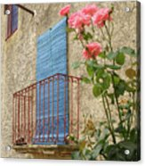 Balcony And Roses Acrylic Print