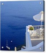 Balcony Over The Sea Acrylic Print by Joana Kruse