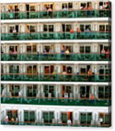 Balcony People Acrylic Print by Perry Webster