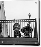 Balcony Table Acrylic Print