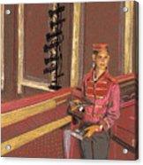 Balcony Usher Acrylic Print