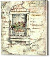 Balcony Venice Acrylic Print