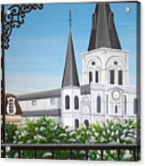 Balcony View Of St Louis Cathedral Acrylic Print