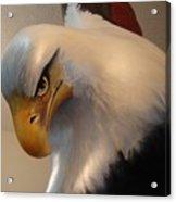 Bald-headed Eagle Sculpture Acrylic Print