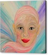 Bald Is Beauty With Brown Eyes Acrylic Print