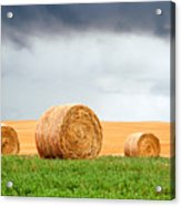 Bales And Layers Acrylic Print