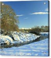 Balheary  Demesne In The Snow Acrylic Print