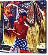 Bali Barong And Kris Dance  - Paint Acrylic Print
