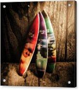 Bali Beach Surf Holiday Scene Acrylic Print