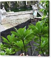 Bali Lady Fountain Acrylic Print