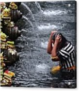 Bali Temple Fountain Cleansing Acrylic Print