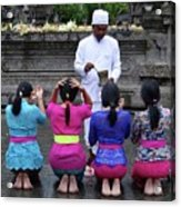 Bali Temple Women Blessing Acrylic Print