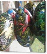 Bali Wooden Eggs Artwork Acrylic Print