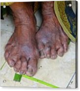 Balinese Lady's Feet Acrylic Print