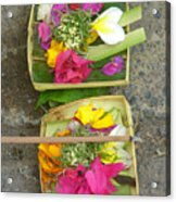 Balinese Offering Baskets Acrylic Print