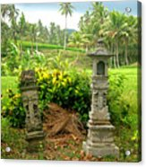 Balinese Rice Field Shrines Acrylic Print