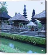 Balinese Temple By The Water Acrylic Print