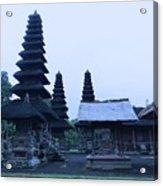 Balinese Temple On Side Acrylic Print