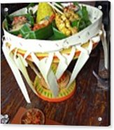Balinese Traditional Dinner Basket Acrylic Print