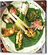 Balinese Traditional Satay Dinner Acrylic Print
