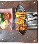 Balinese Traditional Satay Acrylic Print