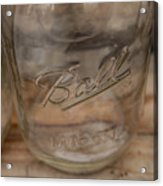 Ball Mason Jar Acrylic Print