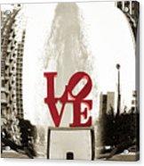 Ball Of Love Acrylic Print