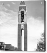 Ball State University Shafer Tower Acrylic Print by University Icons