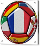 Ball With Flag Of France In The Center Acrylic Print