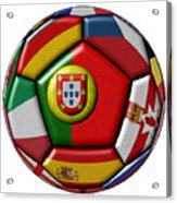Ball With Flag Of Portugal In The Center Acrylic Print