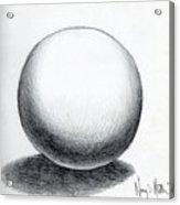 Ball With Shadow Acrylic Print