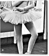 Ballerina B W Acrylic Print