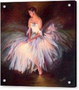 Ballerina Ballet Dancer Archival Print Acrylic Print
