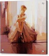 Ballerina Dancer Sitting On The Floor 01 Acrylic Print