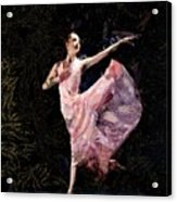 Ballerina Dancing Expressive Acrylic Print