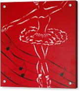 Ballerina In Red Acrylic Print