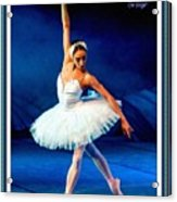Ballerina On Stage L A With Alt. Decorative Ornate Printed Frame.  Acrylic Print