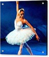Ballerina On Stage L B Acrylic Print