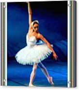 Ballerina On Stage L B With Alt. Decorative Ornate Printed Frame. Acrylic Print