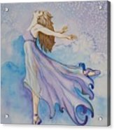 Ballerina Performs Acrylic Print by Joyce Hutchinson