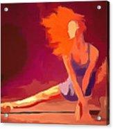 Ballerina Red Acrylic Print